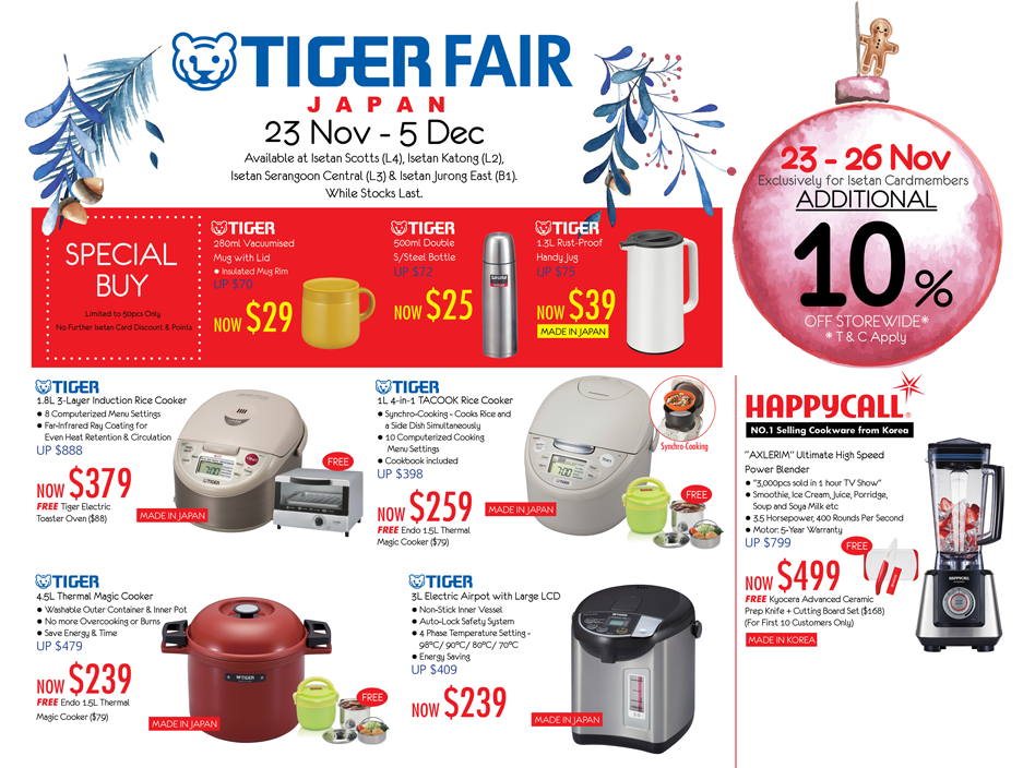 TIGER | Singapore | Home appliances and Small kitchen electrics